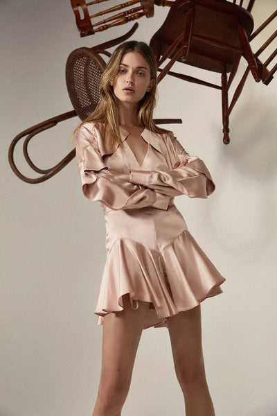 ACLER FLORENCE SILK SHORT - ROSE QUARTZ
