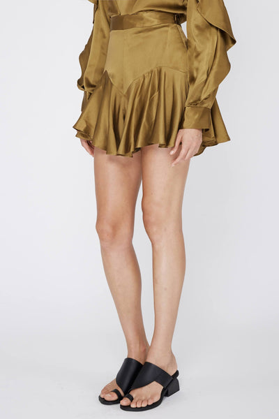 ACLER FLORENCE SILK SHORT - BURNT SAGE