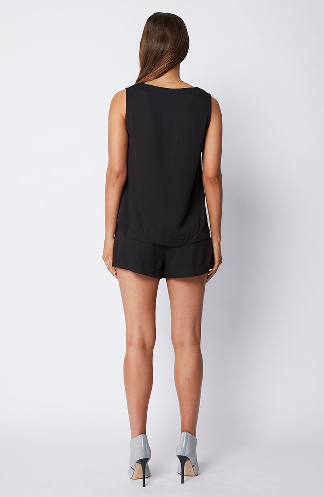 STAPLE THE LABEL EZRA SHORTS - BLACK - sisterfield