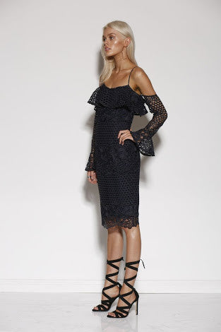 MINISTRY OF STYLE MOMENTUM MIDI DRESS - NAVY - sisterfield