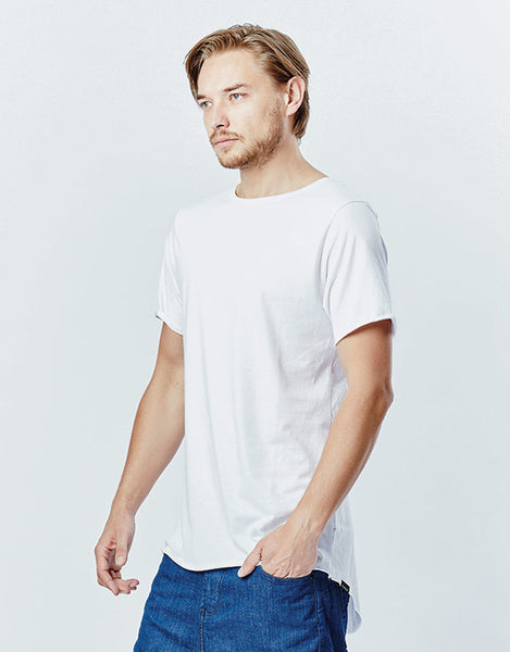 CASA AMUK MENS TALL TEE - WHITE - sisterfield