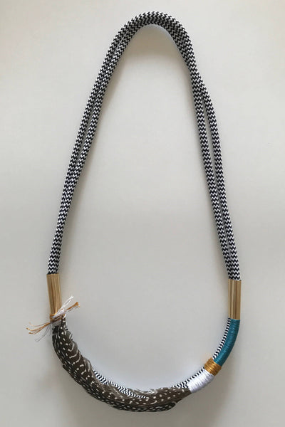 SARAH MAKES THESE LIGHT AS A FEATHER NECKLACE - PERIWINKLE - sisterfield