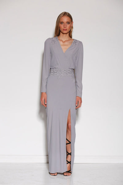 MINISTRY OF STYLE SURRY MAXI DRESS - BLUE STEEL - sisterfield