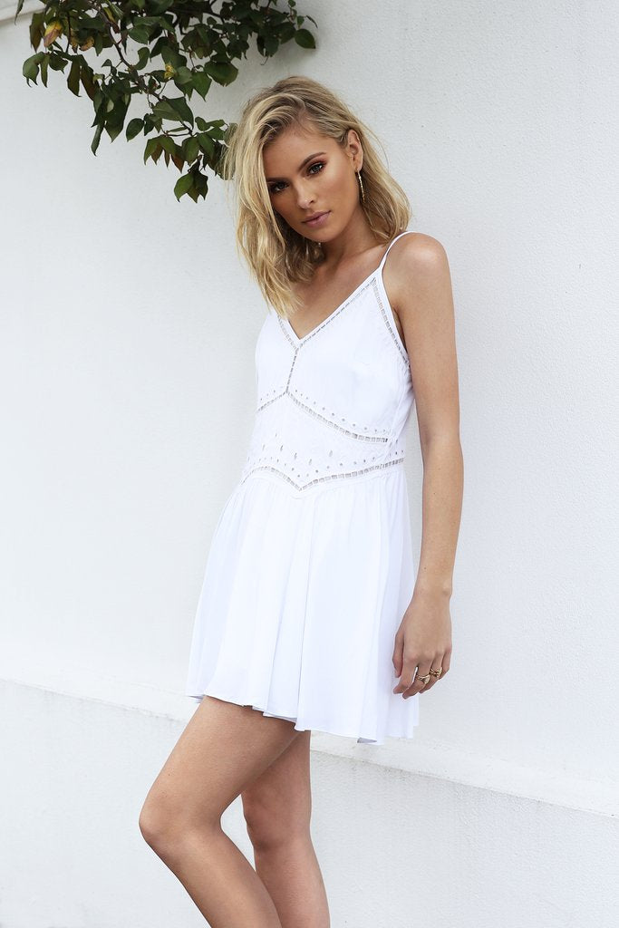 MADISON SQUARE ST LOUIS SWING DRESS - WHITE - sisterfield