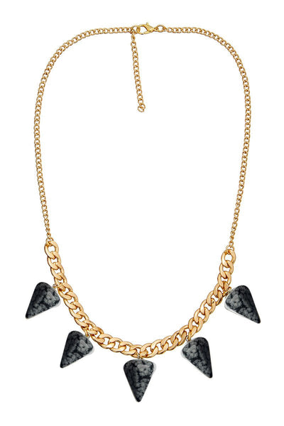 ELLE LOUISE GOLD PENDULUM CHAIN NECKLACE N266 - SNOWFLAKE - sisterfield