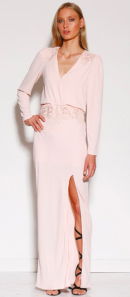 MINISTRY OF STYLE SURRY MAXI DRESS - BLUSH - sisterfield