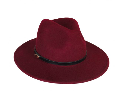 ACE OF SOMETHING OSLO FEDORA - MERLOT - sisterfield