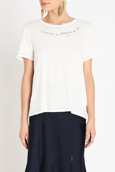 SASS & BIDE LEAVE A CHARGE TEE - sisterfield