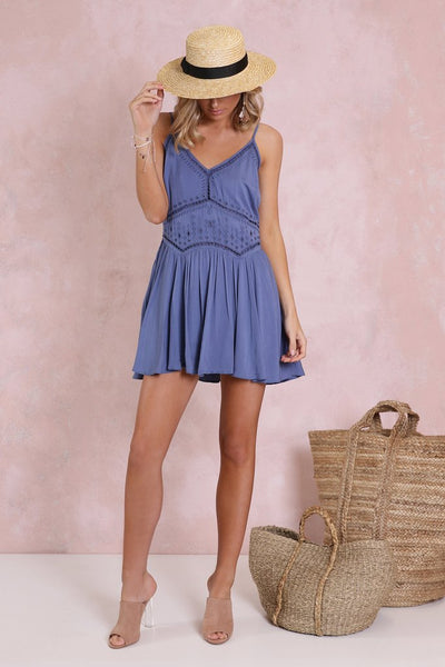 MADISON SQUARE ST LOUIS SWING DRESS - INDIGO - sisterfield