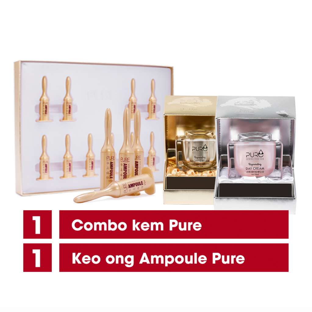 SALE: 1 Ampoule Pure + 1 Day Cream + 1 Night Cream