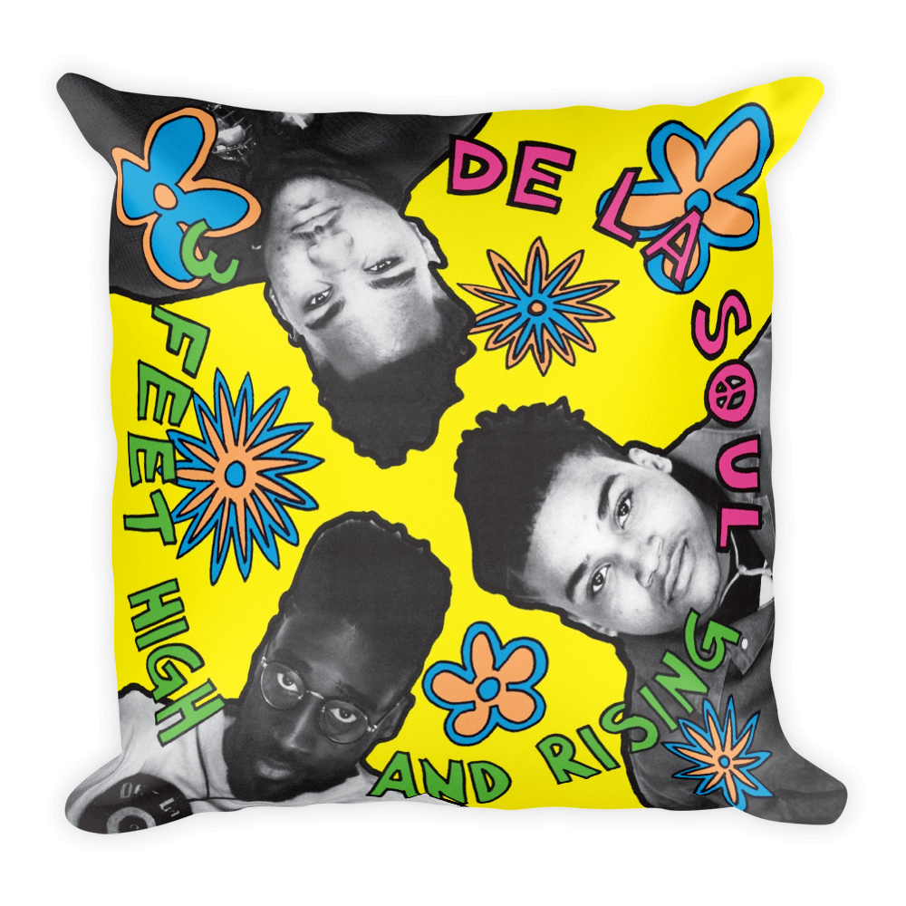 """3 Feet High and Rising"" Lush Pillow"
