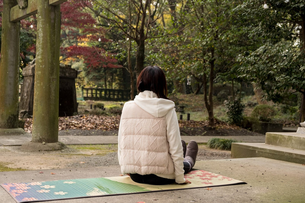 Clearance SALE: Japanese Natural Tatami Yoga Mat - Sakura-Fuji -  Tatami Yoga Mat - IKEHIKO JAPAN
