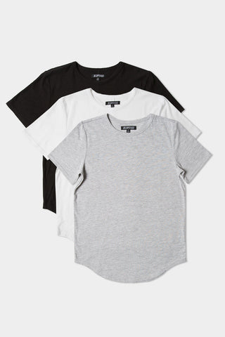 Curved Hem Tee - Original 3 Pack