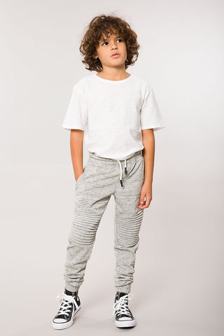 Heather Grey Moto Jogger Pant