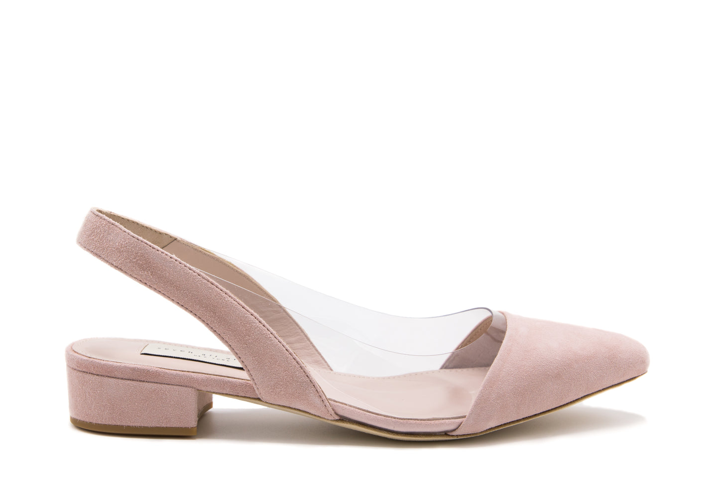 Baby Pink Suede Slingback