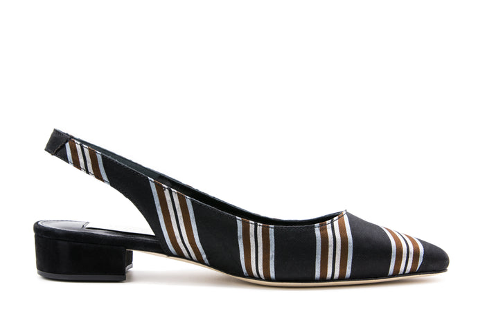 Black Stripe Jacquard