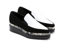 Black and White Python Loafer