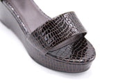 Chocolate Crocodile Sandal