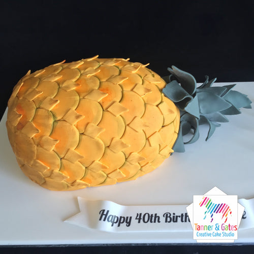 Pineapple Birthday Cake