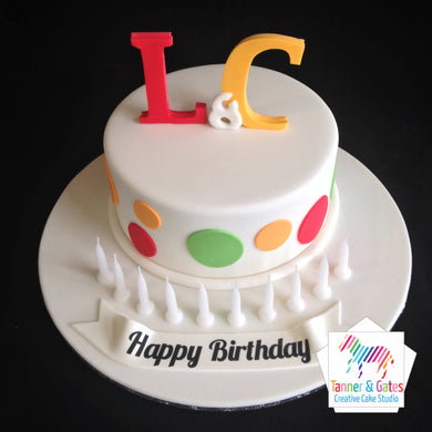 Initials Birthday Cake