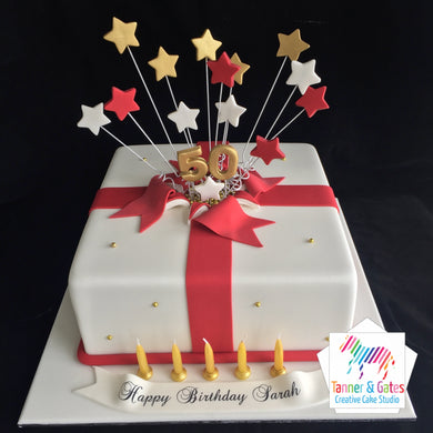 Shooting Stars Birthday Cake (Square)