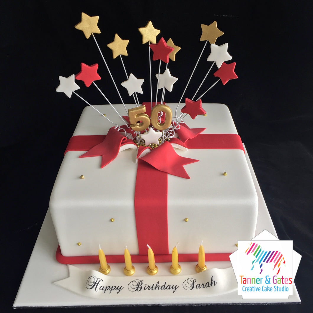 Remarkable Shooting Stars Birthday Cake Square Tanner Gates Funny Birthday Cards Online Hendilapandamsfinfo