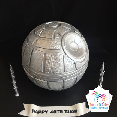 3D Death Star Cake (Metallic)
