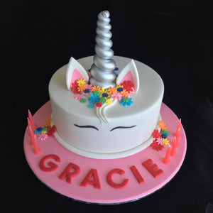 Unicorn Birthday Cake - Flowers