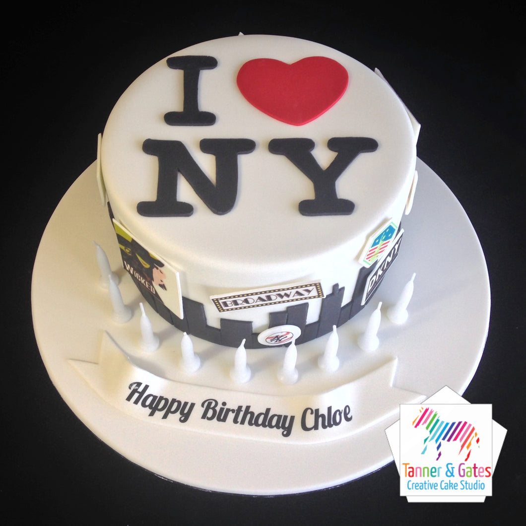I (Heart) NY Birthday Cake