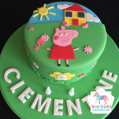 Peppa Pig Cake - 2D Cut-out Cake (Green)