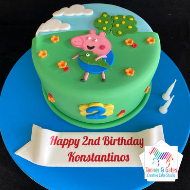 Peppa Pig Cake - 2D Cut-out Cake (George)