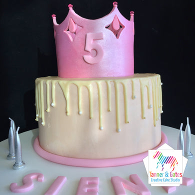 Princess Crown Drip Cake
