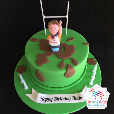 Rugby Referee Cake