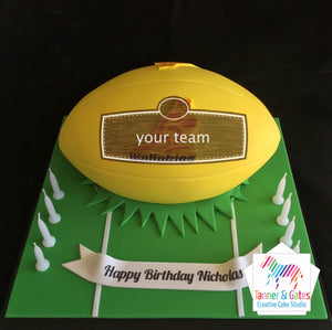 Wallabies Rugby Ball Cake