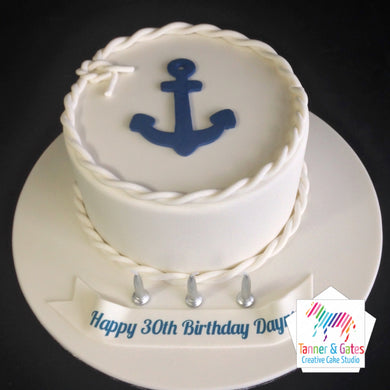 Anchor / Nautical Birthday Cake