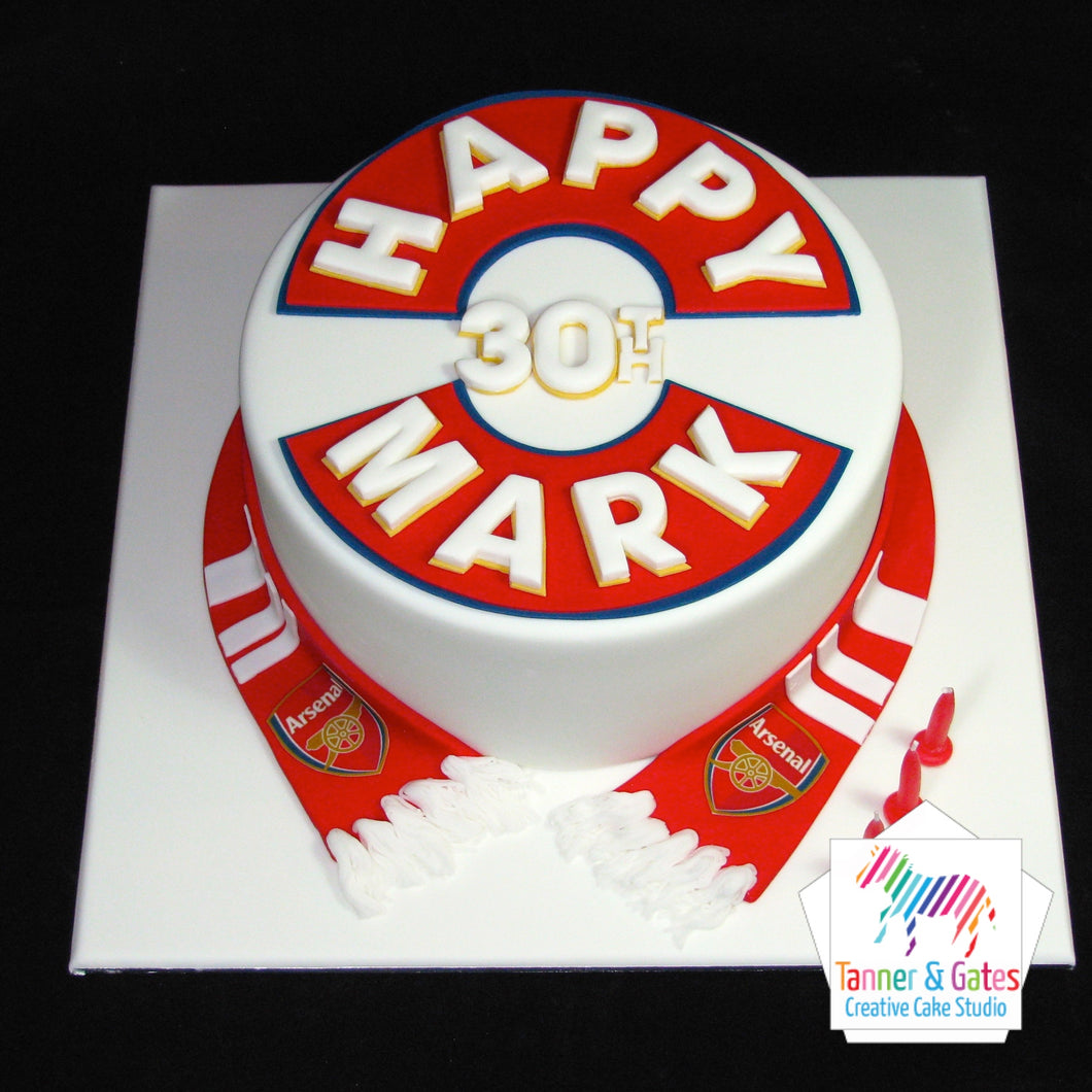 Arsenal Colours Birthday Cake