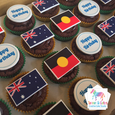 Flag Corporate Logo Cupcakes