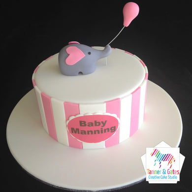 Elephant Balloon Baby Shower Cake