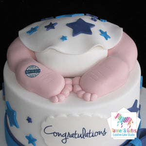 Baby Feet Baby Shower Cake
