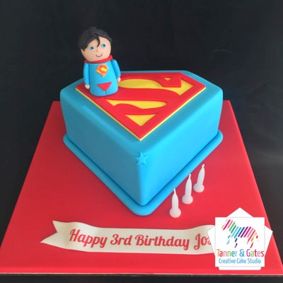 Pleasing Superman Logo Birthday Cake Tanner Gates Funny Birthday Cards Online Bapapcheapnameinfo
