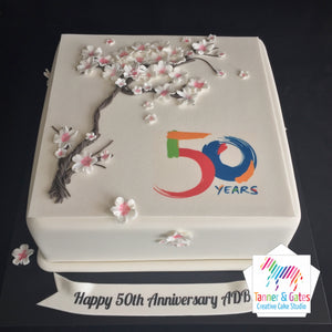 Corporate Cake with 3D Elements
