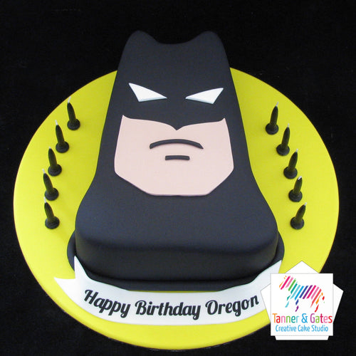 Batman Face Birthday Cake