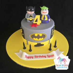 Batman vs Joker Birthday Cake