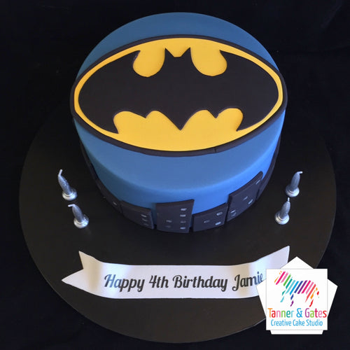 Batman Logo (City) Birthday Cake