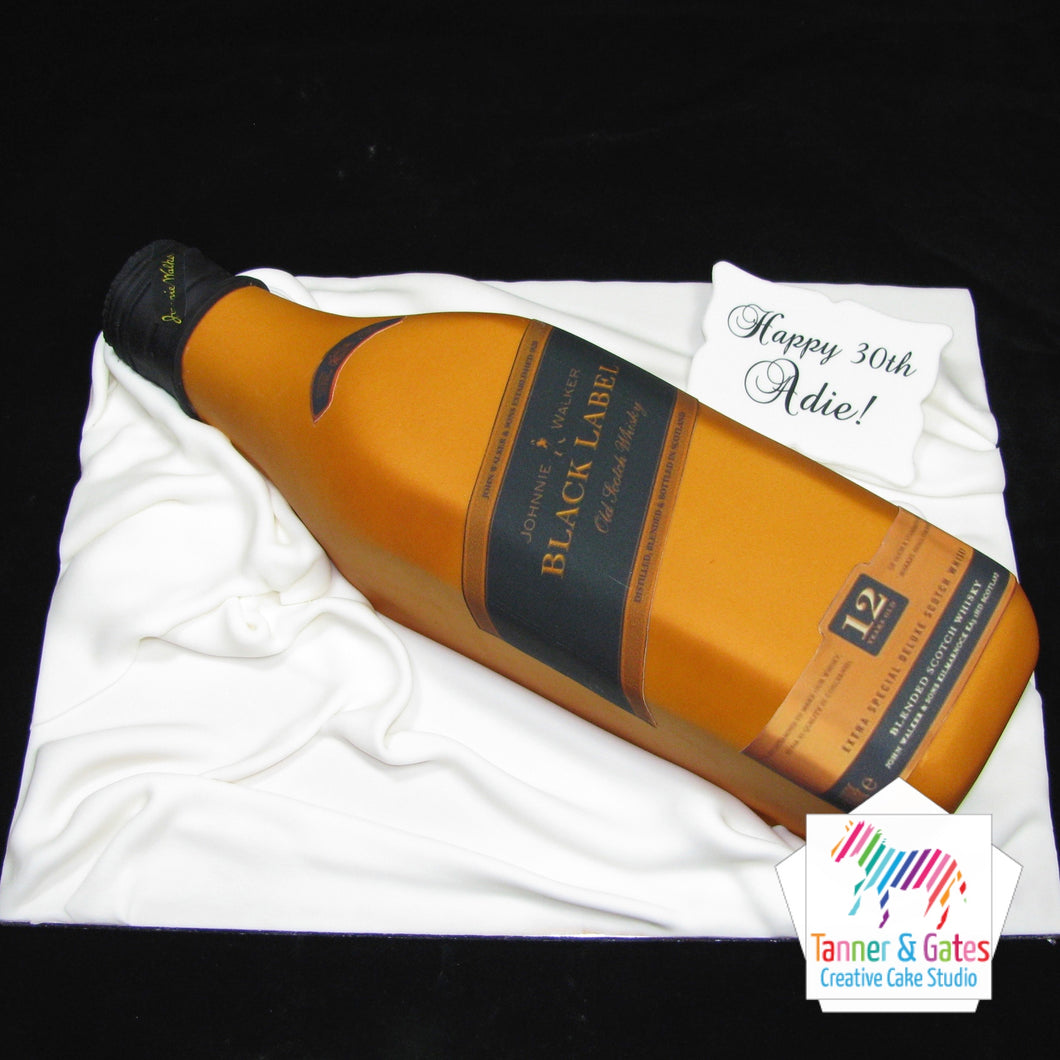 Black Label Bottle Cake