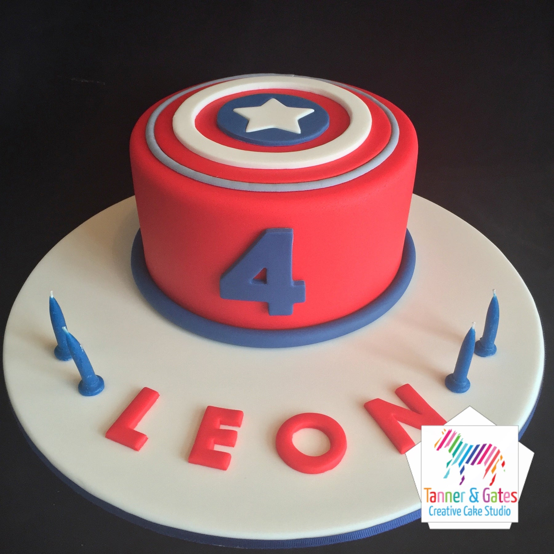 Excellent Captain America Logo Birthday Cake Tanner Gates Funny Birthday Cards Online Elaedamsfinfo