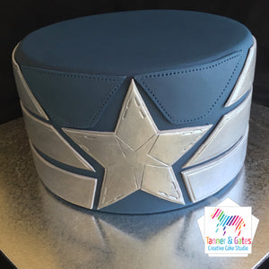 Captain America Armour Birthday Cake