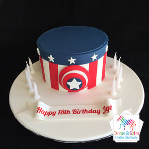 Captain America Cake - DIY