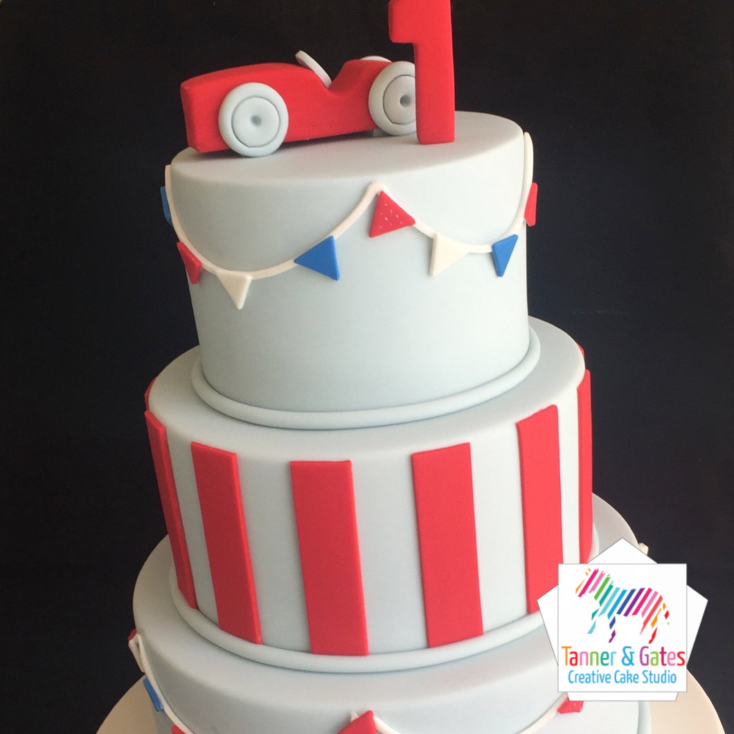 Racing Car 1st Birthday - 3 tier