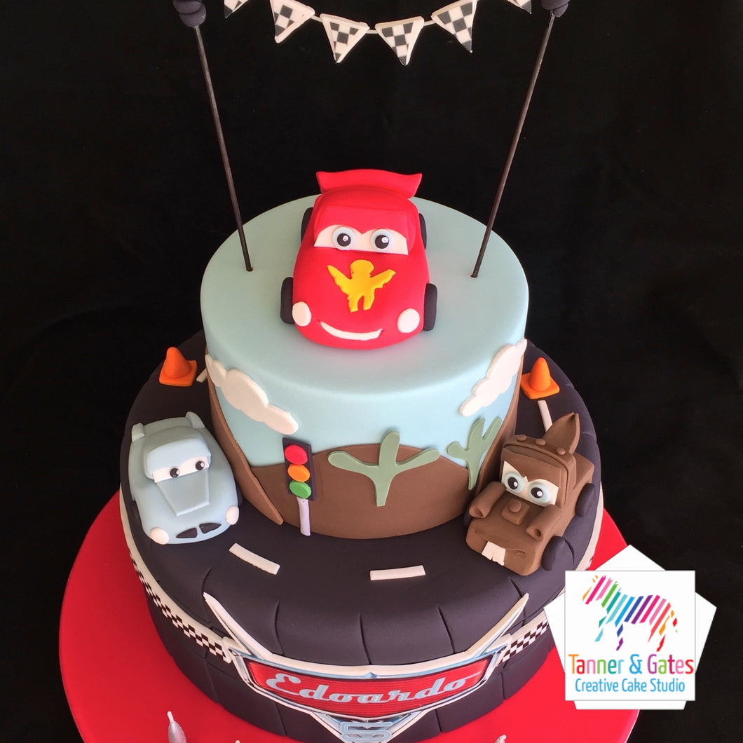 Disney Cars Cake - 2 tier
